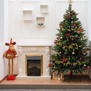 новогодняя елка дизайн камин