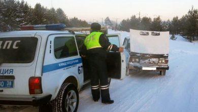 Photo of Попавшему в беду автовладельцу помогли сотрудники ДПС