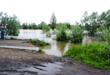 Photo of Подъем воды на реке Уда выше критической отметки