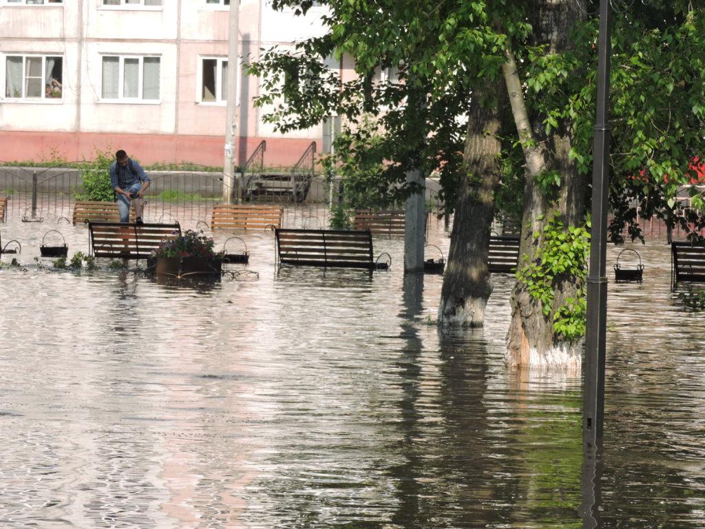 Наводнение Нижнеудинска 2019 центр города