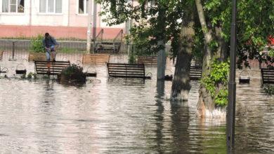 Photo of Центр города топит!!! Под воду ушел парк