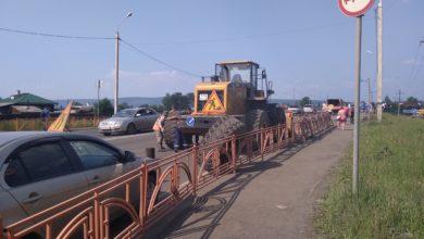 Photo of В Нижнеудинске ведутся работы по восстановлению моста