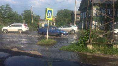 Photo of Вода достигла отдела полиции Нижнеудинска. Фотофакт