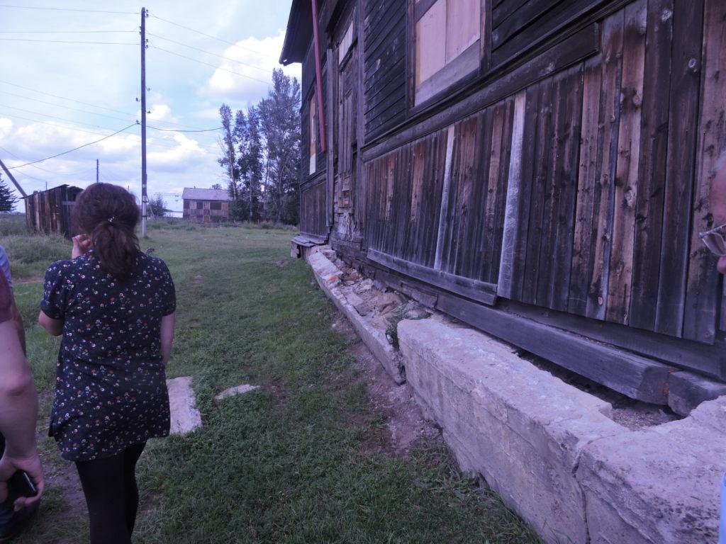 Шумский сельский клуб после наводнения