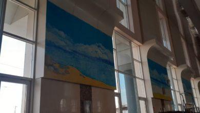 Photo of Морской пейзаж украсил стены Нижнеудинского вокзала.